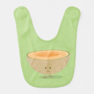 Cantaloup de sourire bavoir de bébé