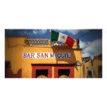 Cantina, San Miguel de Allende, Mexique, carte pho Photocartes Personnalisées