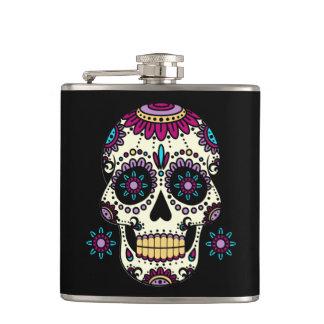 Cantine Mêlée dans Vinyle Crâne Color Flores Flasques
