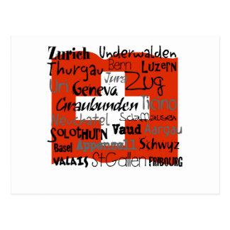 Cantons de carte de la Suisse