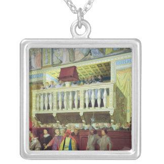 Cantoria dans la chapelle de Sistine Pendentif Carré
