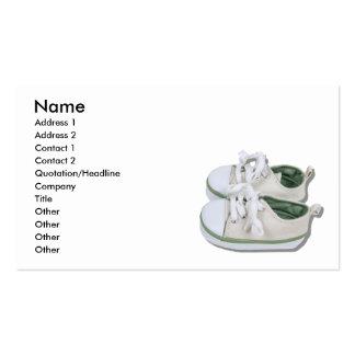 CanvasBabyShoes101610, nom, adresse 1, adresse… Carte De Visite Standard