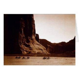 Canyon de Chelly Navajo par E.S. Curtis 1904 Carte De Vœux