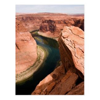 Canyon de gorge - courbure en fer à cheval carte postale