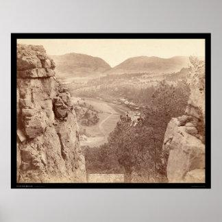 Canyon d'écho vu par l'écart-type 1891 de passage  affiches