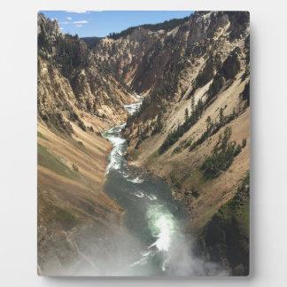 Canyon grand au parc de Yellowstone Plaque Photo
