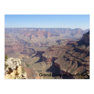 Canyon grand, carte postale du sud de l'Arizona de