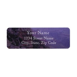 Canyon grand dans les étiquettes de adresse