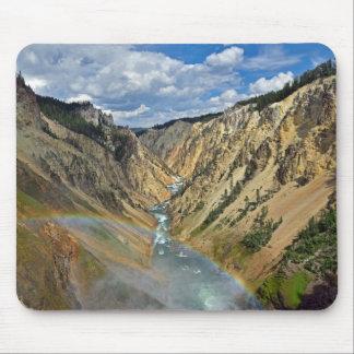 Canyon grand du tapis de souris de Yellowstone