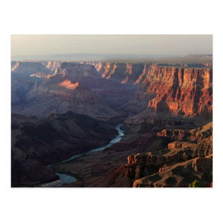 Canyon grand et fleuve Colorado en Arizona Carte Postale