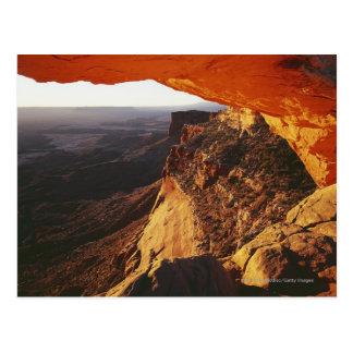 Canyon renversé et rocheux de roche orange carte postale