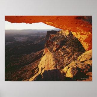 Canyon renversé et rocheux de roche orange posters