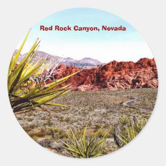 Canyon rouge de roche, autocollants du Nevada
