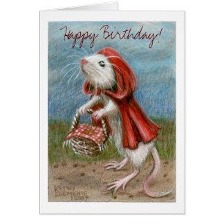 Cap de rat et panier, joyeux anniversaire ! Carte