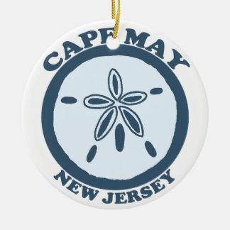 Cape May. Ornement Rond En Céramique