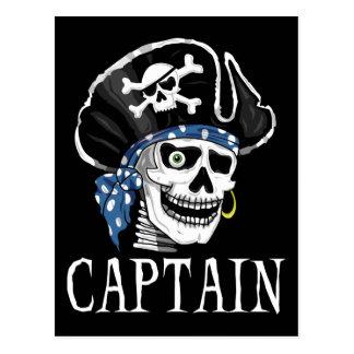 Capitaine borgne de pirate carte postale