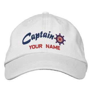 CAPITAINE casquette personnalisé par roue Casquette Brodée