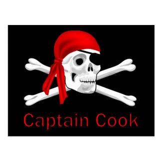 Capitaine Cook Postcard de pirate Carte Postale