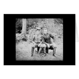 Capitaine Custer avec un prisonnier confédéré 1862 Cartes