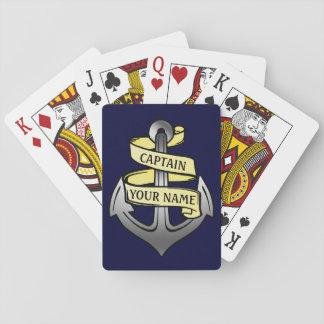 Capitaine de bateau personnalisable votre ancre cartes à jouer