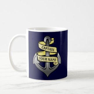 Capitaine de bateau personnalisable votre ancre mug