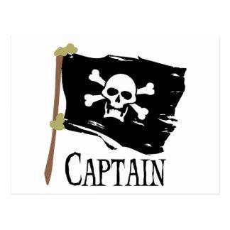 Capitaine de jolly roger carte postale