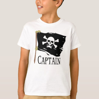Capitaine de jolly roger t-shirt