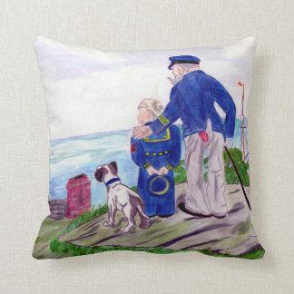 Capitaine de la marine marchande et petit-fils coussin