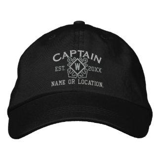 Capitaine de la marine marchande personnalisé casquette brodée