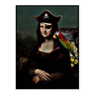 Capitaine de pirate de Mona Lisa Carte Postale