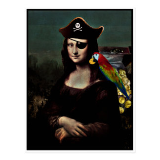 Capitaine de pirate de Mona Lisa Cartes Postales