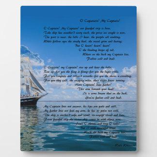 Capitaine d'O, mon capitaine par : Walt Whitman Photos Sur Plaques