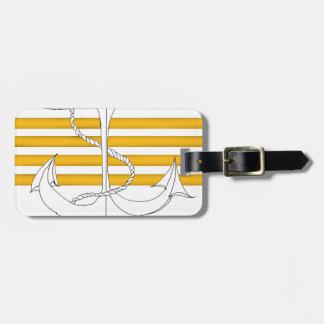 capitaine d'or, fernandes élégants étiquette à bagage