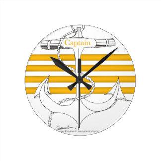 capitaine d'or, fernandes élégants horloge ronde