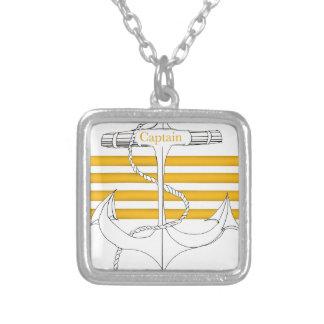 capitaine d'or, fernandes élégants pendentif carré