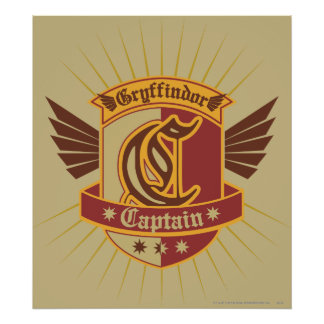 Capitaine Emblem de Gryffindor Quidditch Posters