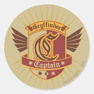 Capitaine Emblem de Gryffindor QUIDDITCH™ Sticker Rond