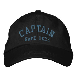Capitaine - marin personnalisable casquette brodée