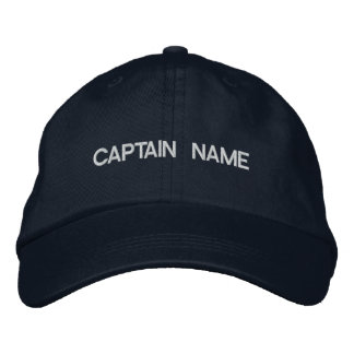 CAPITAINE NAME HAT CASQUETTE BRODÉE