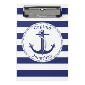 Capitaine nautique Personalized de bleu marine