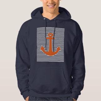Capitaine original Nautical d'ancre de broderie Veste À Capuche