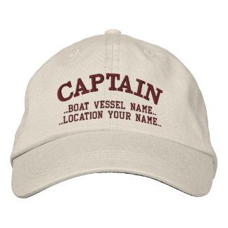 CAPITAINE personnalisable votre bateau votre nom Casquette Brodée
