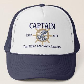 Capitaine personnalisé de capitaine premier casquette