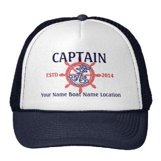 Capitaine personnalisé de capitaine premier casquette de camionneur