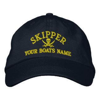 Capitaine personnalisé de navigation de pirate casquette brodée