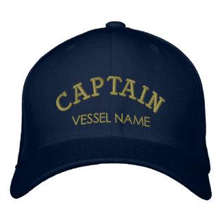 Capitaine personnalisé Hat de nom de bateau Casquette Brodée