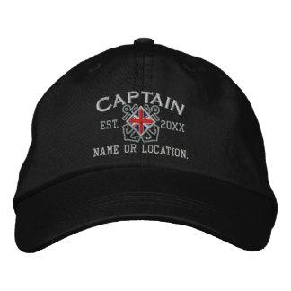 Capitaine personnalisé Nautical d'Union Jack Casquette Brodée