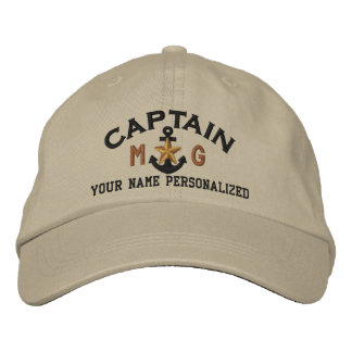 Capitaine personnalisé Nautical Star Anchor Casquette Brodée