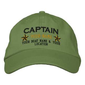 Capitaine personnalisé Stars Ball Cap Embroidery Casquette Brodée