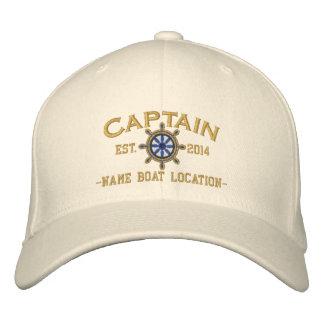 Capitaine personnalisé Wheel d'ANNÉE et de noms Casquette Brodée